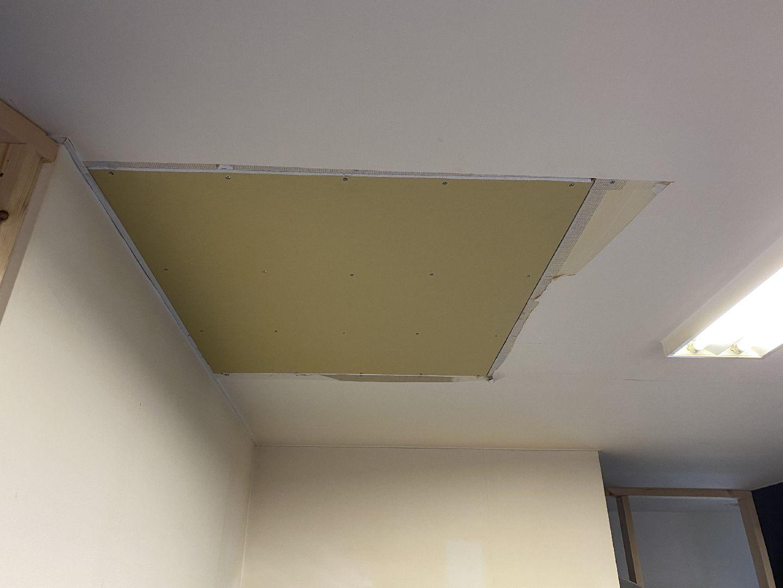 新しい天井板(ボード)の取付 リフォーム