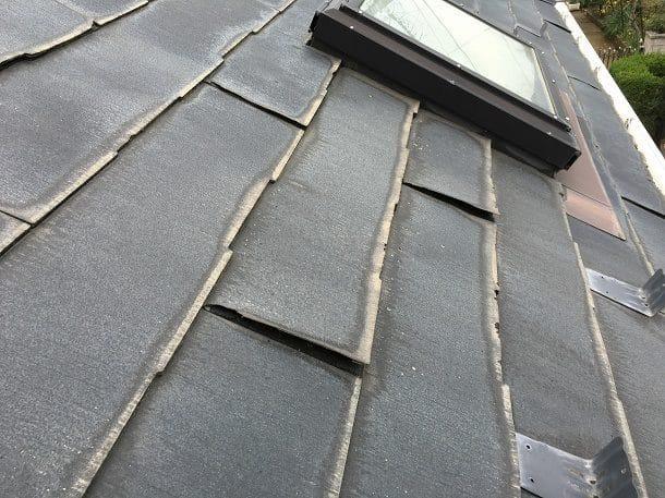 瓦やスレートなど屋根材の浮きやズレが目視でわかる