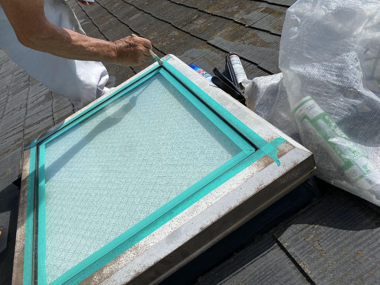 プライマ―塗布 接着剤 天窓