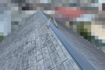 【東京都荒川区】スレート屋根、棟板金の交換工事、ひび割れ補修の事例