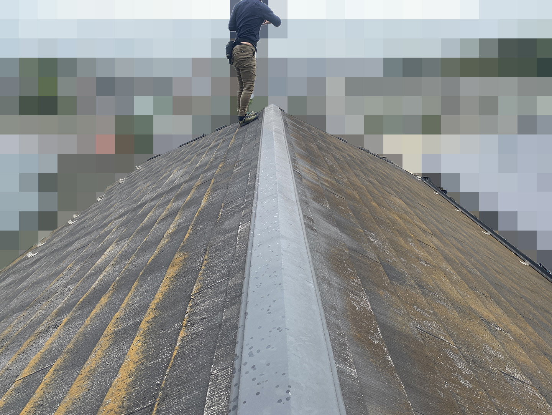 【千葉県松戸市】アスベスト入りのスレート屋根の屋根点検の事例 全景