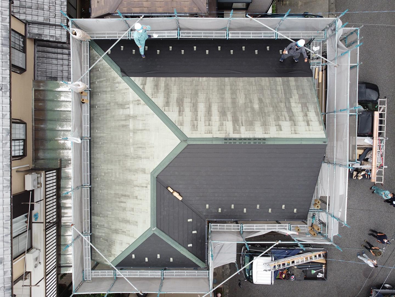 屋根用の特殊シート防水によるカバー
