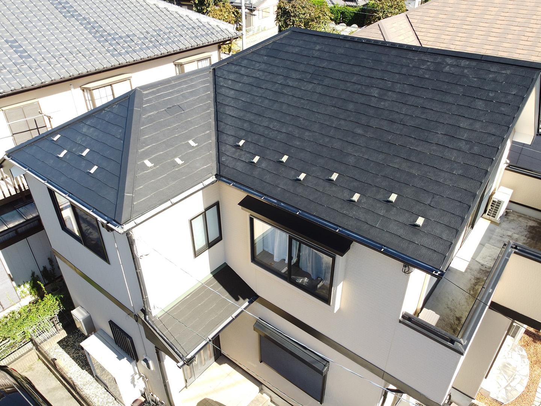 スレート屋根 屋根用の特殊シート防水によるカバー