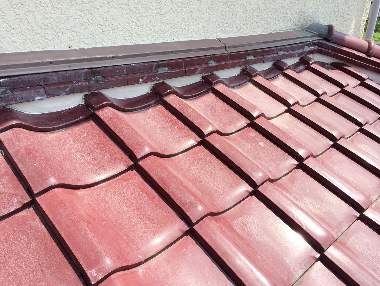 瓦屋根 壁際の補修