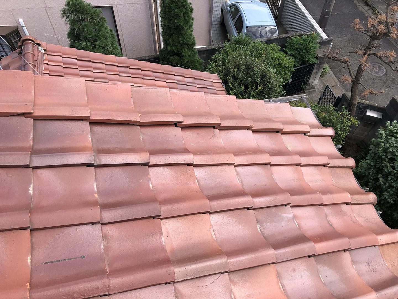 瓦屋根の固定確認 袖( そで、けらば ) → 横端