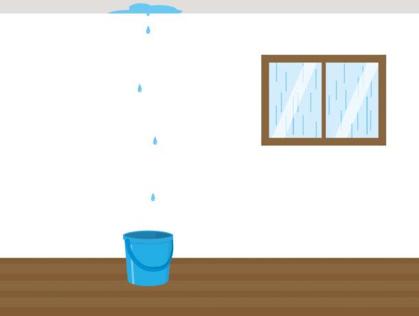 雨漏りが起きた際の修理までに行うべき手順と対処法