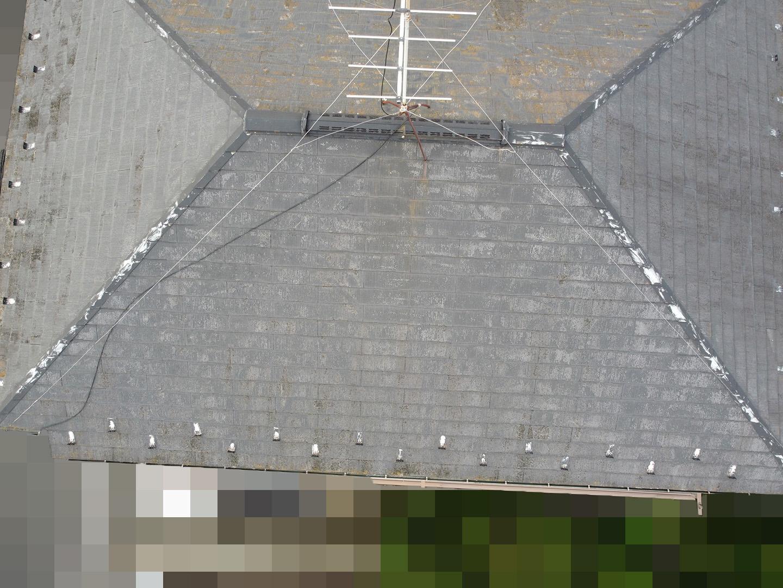 【東京都豊島区】築25年前後、アスベスト入りのスレート屋根の点検事例 南面