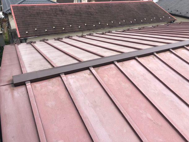 金属屋根の棟交換